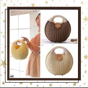 Handbags - Rattan Bag circular High Quality Tote Handbag